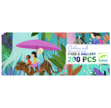 Djeco Puzzle Gallery - Children's Walk 200pc 6+