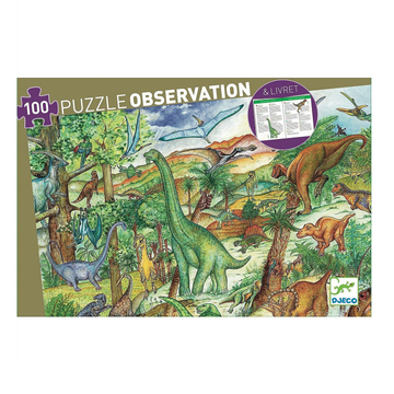 Djeco Puzzle Observation - Dinosaurs 100pc 5+
