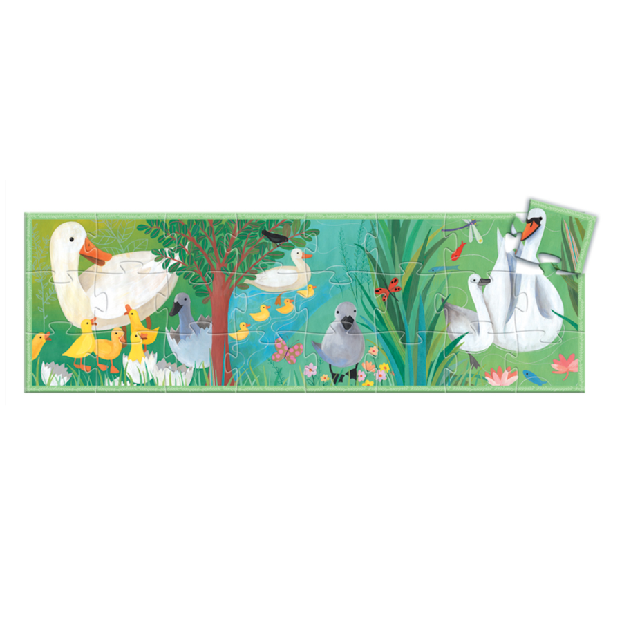 Djeco Silhouette Jigsaw Puzzle - The Ugly Duckling 24pc 3+