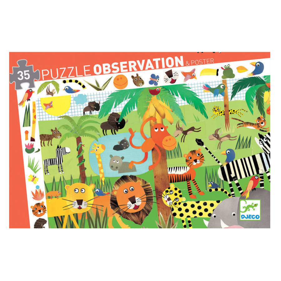 Djeco Puzzle Observation - Jungle 35pc 3+