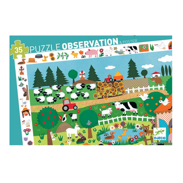 Djeco Puzzle Observation - Farm 35pc 3+