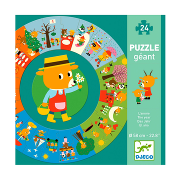 Djeco Puzzle - Giant Circle Through the Year 24pc 3+