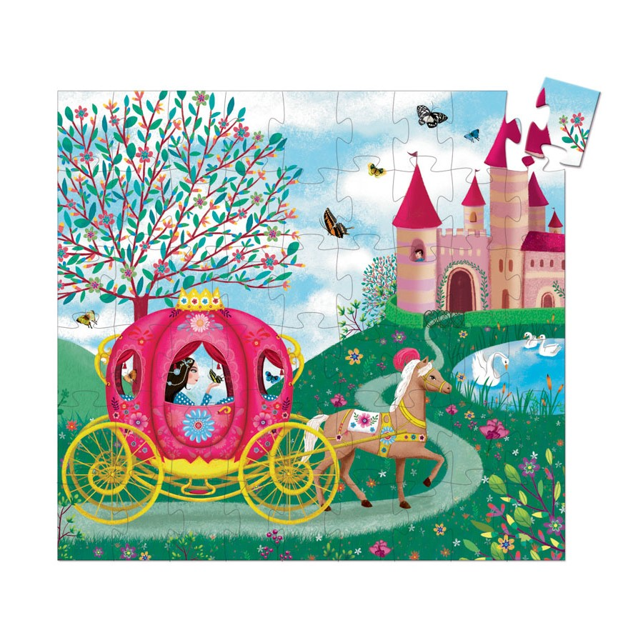 Djeco Silhouette Puzzle - Elise's Carriage 54pc 5+