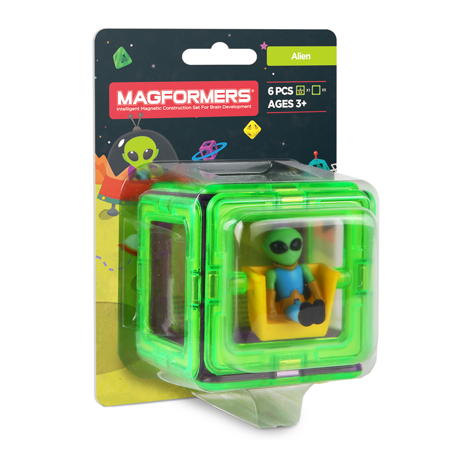 Magformers Figure Plus Set (Alien Square)