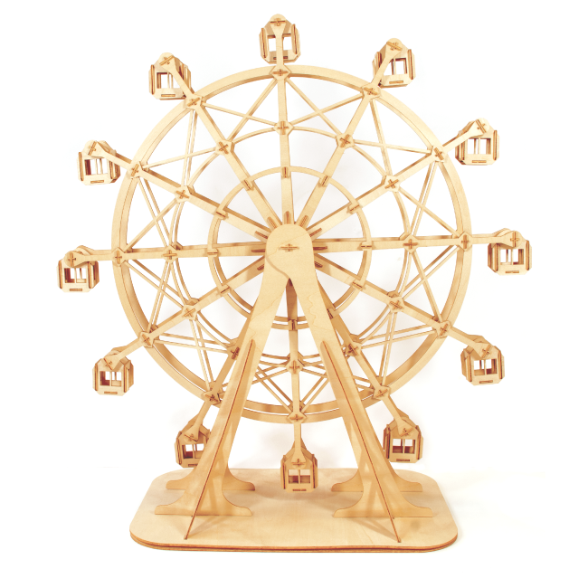 Kigumi - Ferris Wheel Plywood Puzzle