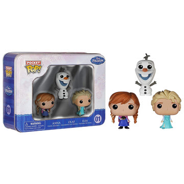 Frozen - Elsa, Anna & Olaf Pocket Pop! 3-Pack Tin