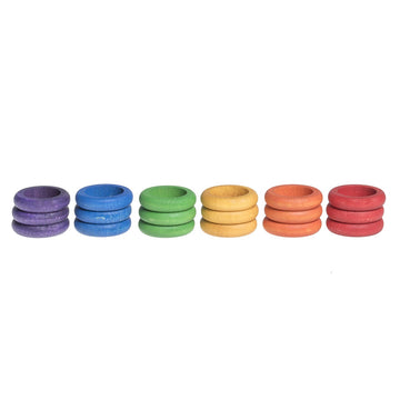 Grapat Rings 18 pieces (6 Colours) - Wooden Toys