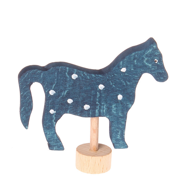 Grimm's Blue Horse Decoration