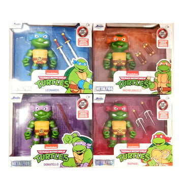 TMNT Metals Set of 4 Turtles 10cm