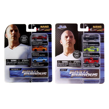 Jada Toys Nano Hollywood Rides - Fast & Furious (Set 1 & 2)