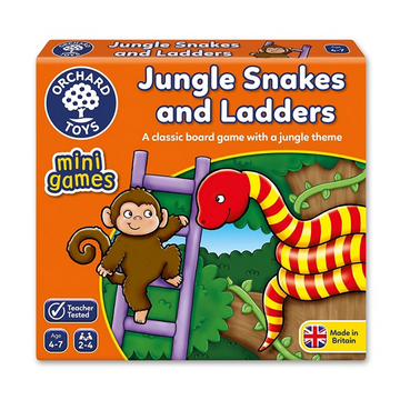 Orchard Toys - Jungle Snakes and Ladders Mini Game 4-7yo
