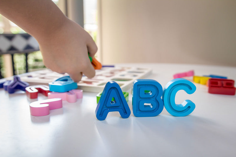 Kiddie Connect - ABC (Uppercase) Chunky and Tracing Puzzle