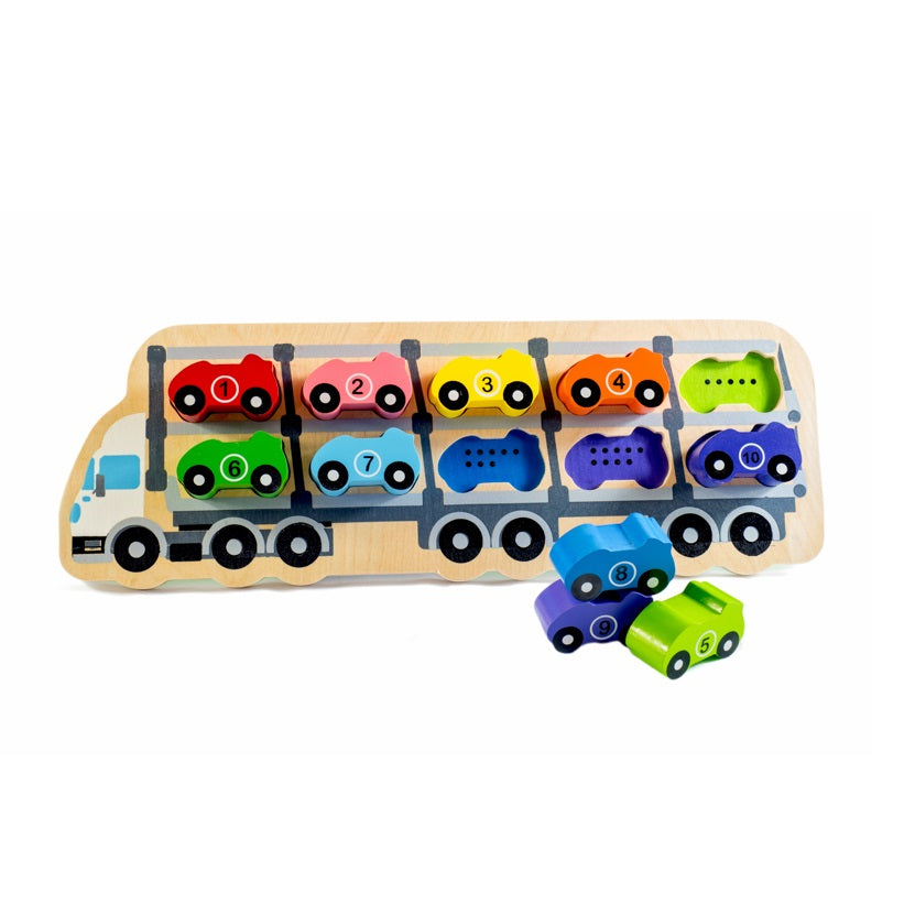 Kiddie Connect - 10 Car Puzzle