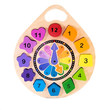 Kiddie Connect - Wooden Clock Puzzle
