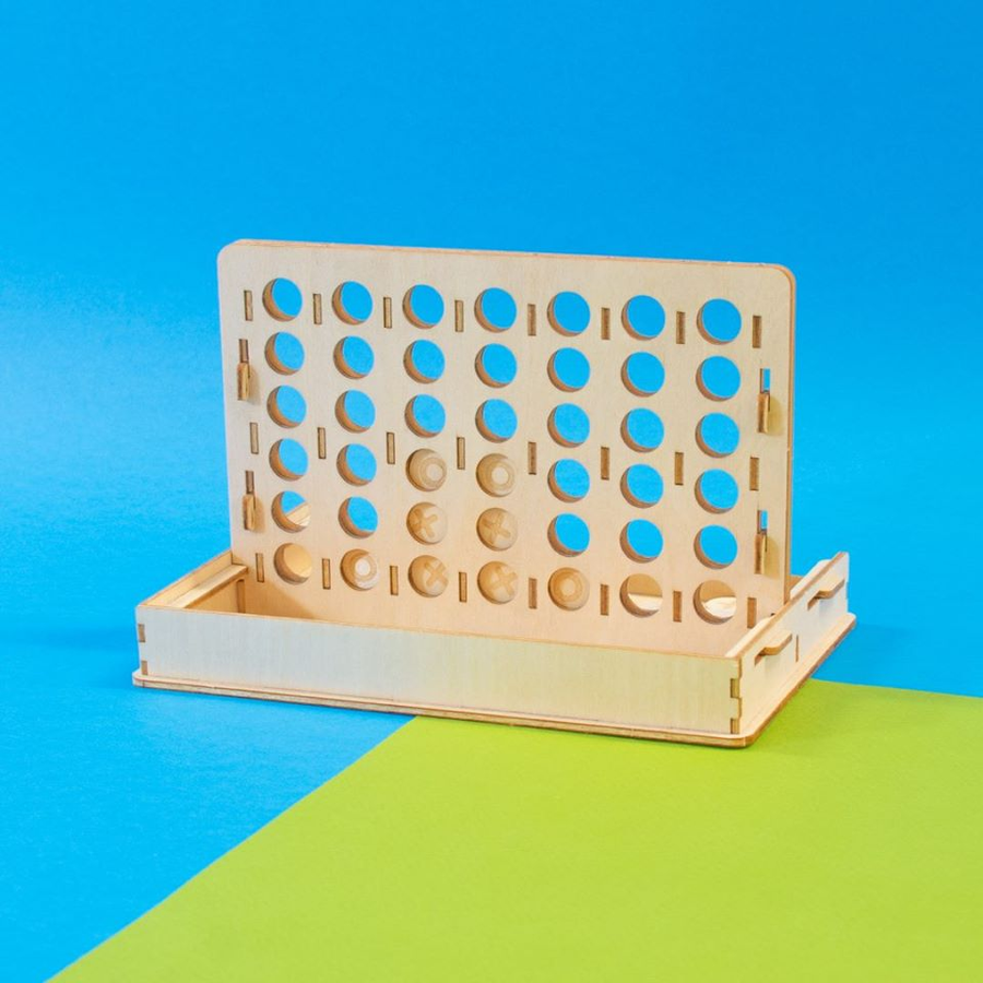 Kigumi - Four in A Row 3D wooden puzzle game