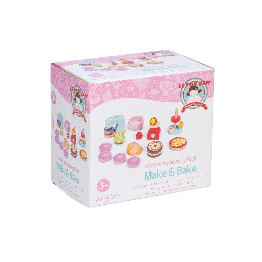 Le Toy Van Daisylane Make & Bake - Wooden Kitchen Accessory Pack