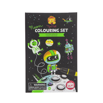 Tiger Tribe - Colouring Set Neon - Outer Space 5+