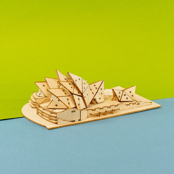 Kigumi - Opera House Plywood Puzzle