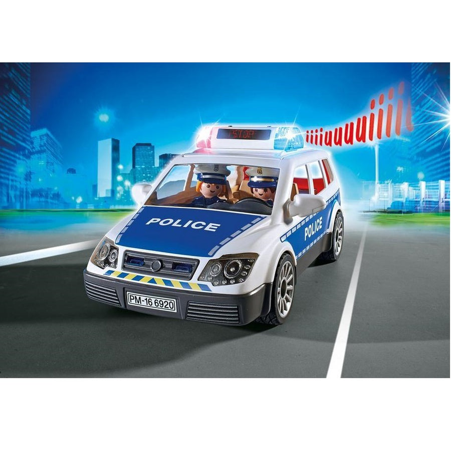 Playmobil - Police Car with Lights and Sound Play Set