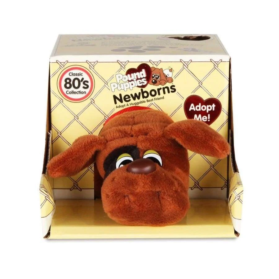 Pound Puppies™ Newborns 80s Classic Collection - Brown (Black Spots) puppy with Short Ears