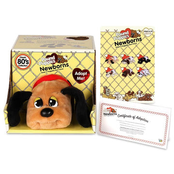 Pound Puppies™ Newborns 80s Classic Collection - Beige Puppy with dark brown spots