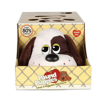 Pound Puppies™ 80s Classic Collection - White with Dark Brown Spots Puppy