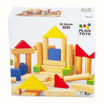 Plan Toys - 50 wooden blocks