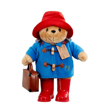 Paddington Bear with Boots Embroidered Coat & Suitcase - Large 35cm