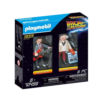 Playmobil 70459 Back to the Future Marty Mcfly and Dr Emmett Brown