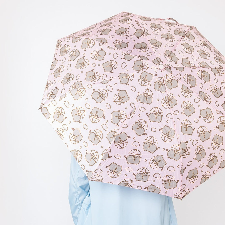 Pink Pusheen Compact Umbrella w/ sleeve