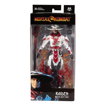 "Mortal Kombat - Raiden Bloody White Hot Fury Skin 7"" Action Figure"