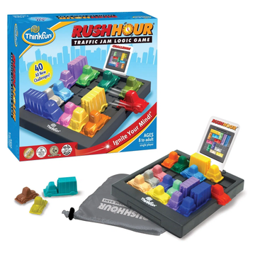 Think Fun - RUSH HOUR Traffic jam logic game 7-99