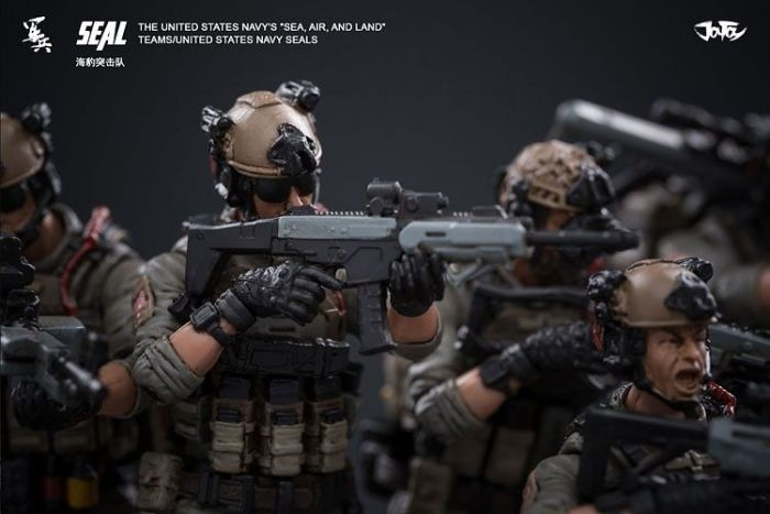 Joy Toy - 1:18 Scale Soldier US Navy Seals Action Figures - Set of 6