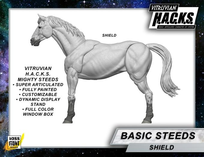 VITRUVIAN H.A.C.K.S. Mighty Steeds - SHIELD white horse