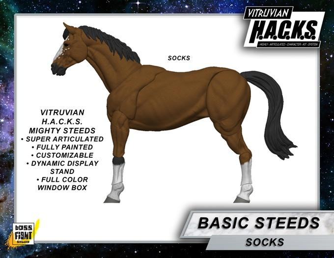 VITRUVIAN H.A.C.K.S. Mighty Steeds - SOCKS Brown horse
