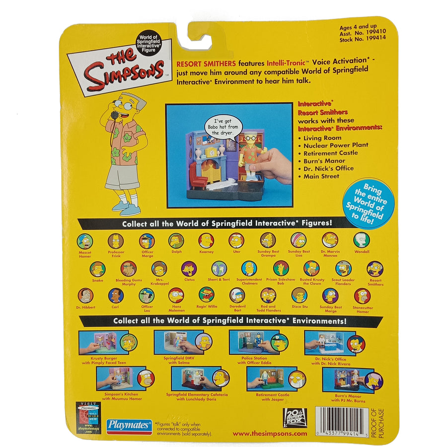 The Simpsons Resort Smithers Intelli-Tronic Voice Activation ©2002