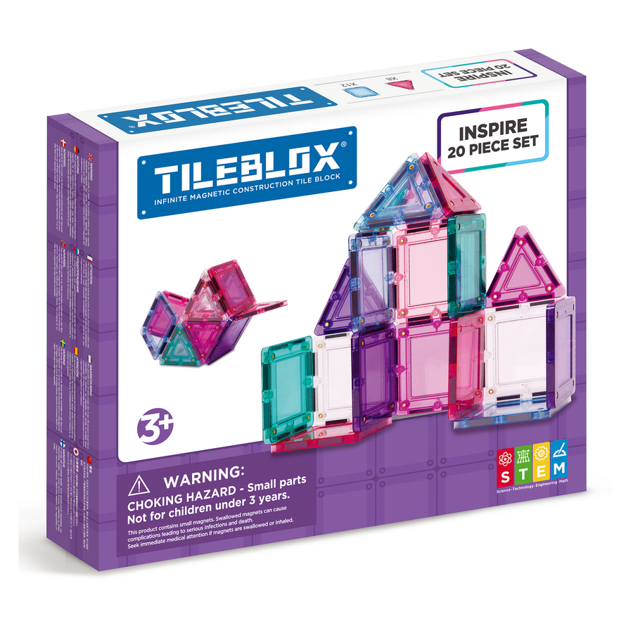 TILEBLOX Inspire 20 Set magnetic tiles