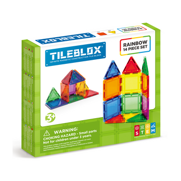 TILEBLOX Rainbow 14 Set magnetic tiles