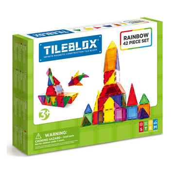 TILEBLOX Rainbow 42 Set magnetic tiles
