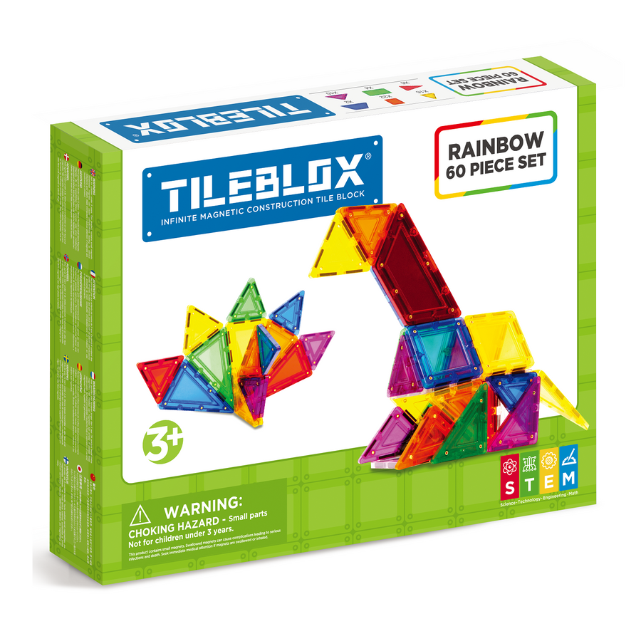 TILEBLOX Rainbow 60 Set magnetic tiles