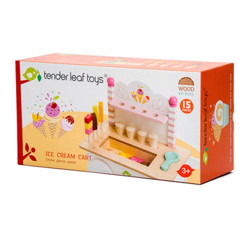 Tender Leaf Toys - Wooden Push Along Ice Cream Cart
