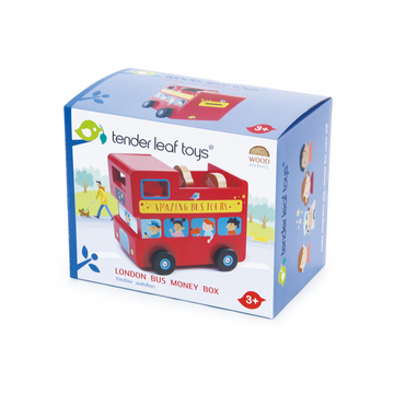 Tender Leaf Toys - London Bus Money Box