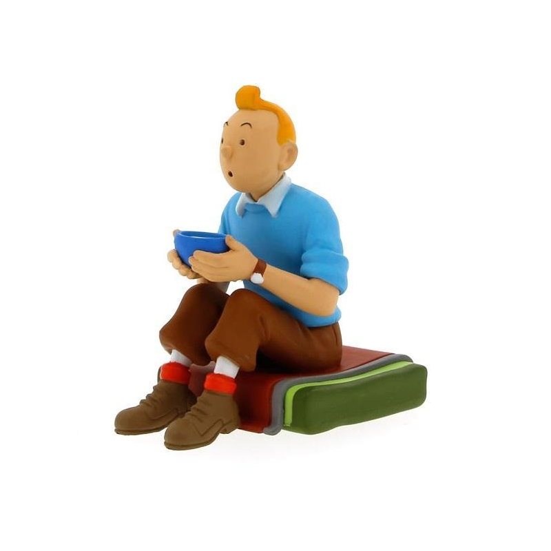 TINTIN - Small PVC sitting figurine (blue pullover)