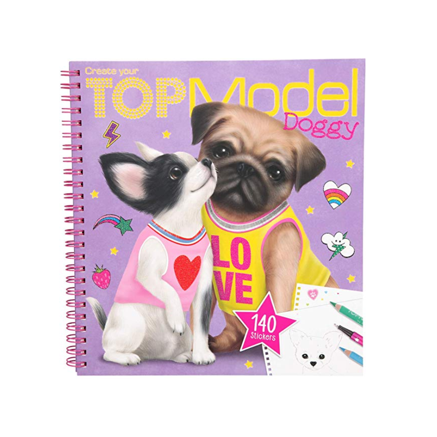 Top Model DOGGY Sticker Colouring in Book by Depesche