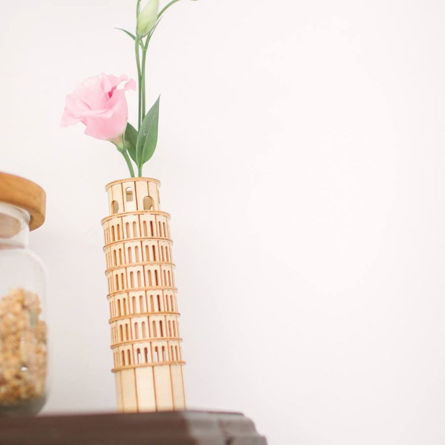Kigumi - Leaning Tower of Pisa 3D Plywood Puzzle