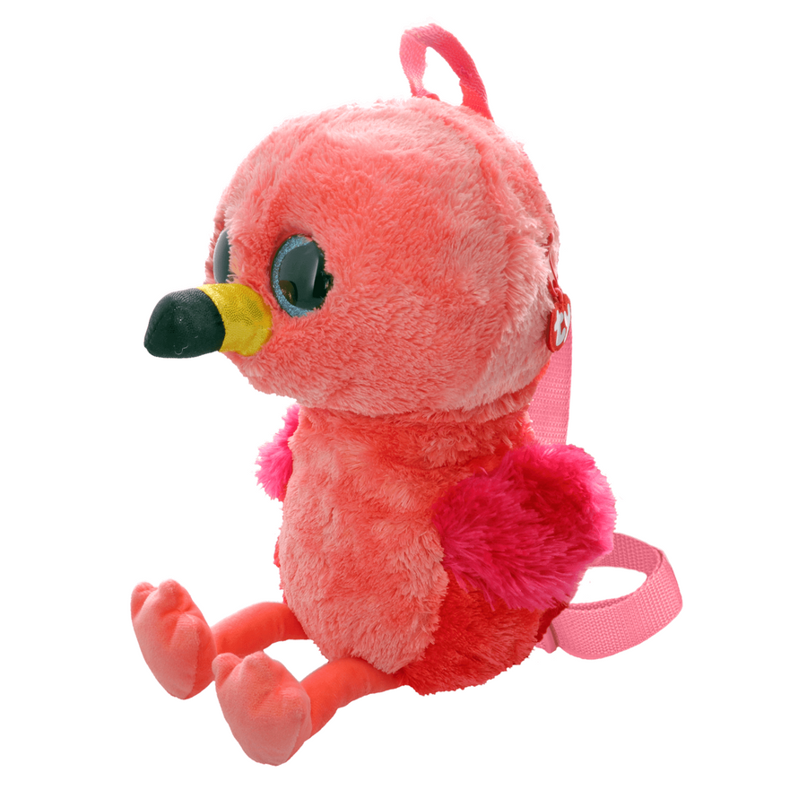 Ty Gilda Pink Flamingo Plush Backpack