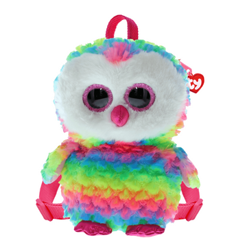 Ty Owen Rainbow Owl Plush Backpack