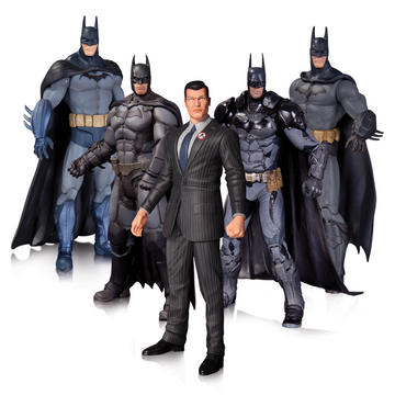 Batman - Arkham Series Batman Action Figures 5-Pack