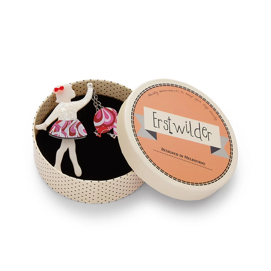 Erstwilder - Bev and the Flying Balloon Brooch