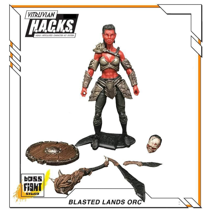 VITRUVIAN H.A.C.K.S. - Series 2 - BLASTED LANDS ORC (Orc Ravager)